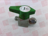 SS QUARTER-TURN INSTRUMENT PLUG VALVE 3/8 IN. SWAGELOK TUBE FITTING 6.4 CV -- SS6P6T - Image