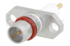 BMA Plug Slide-On Connector Solder Attachment 2 Hole Flange Mount Stub Terminal, .481 inch Hole Spacing -- PE45344 -Image