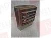 GRAINGER 2E637 ( ELECTRIC UNIT HEATER, 480V, 3.3KW, 3PH, 60HZ, 4AMPS, 480V .17AMPS MOTOR ) -Image