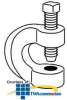"Erico Malleable Beam Clamp, 3/8""-16 Bolt -- 2550037EG -- View Larger Image"