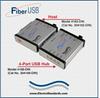 LC Fiber-to-USB Converter/Extender, Host -- Model 4162-DIN -- View Larger Image