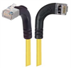 Category 5E Shielded Right Angle Patch Cable, Right Angle Right/Right Angle Up, Yellow 25.0 ft -- TRD815SRA12Y-25 -Image