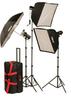 FL700K KIT: FL700K 750 TOTAL WS, FLASHLITE ESSENTIAL STUDIO 3-LIGHT SOFTBOX KIT -- 402310