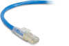 3FT Blue CAT6A 650MHz Patch Cable F/UTP CM Locking Snagless -- C6APC80S-BL-03 - Image