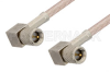 10-32 Male Right Angle to 10-32 Male Right Angle Cable 60 Inch Length Using RG316 Coax -- PE36536-60 -- View Larger Image