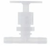 Chemically Inert Panel-Mount Needle Valve, 1/4
