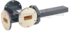 50 dB WR-137 Waveguide Crossguide 3 Port Coupler with UG-344/U Round Cover Flange from 5.85 GHz to 8.2 GHz in Bronze -- FMWCT1039 -Image