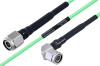 Temperature Conditioned TNC Male to TNC Male Right Angle Low Loss Cable 8 Inch Length Using PE-P160LL Coax -- PE3M0206-8 -Image