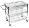 3 Shelf Wire Tub Carts -- 13262 - Image