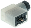 GML Industrial Standard Field Attachable Connector: Form B, 3-pin (2+1PE), UL 1977, translucent housing with black cable gland, screw type, PG9; with red LED, 230 V AC/DC, 10 A -- GML 209 NJ LED 230 black