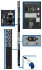 10kW 3-Phase Monitored PDU, 200/208/240V Outlets (42 C13 & 6 C19), IEC-309 30A Blue, 3 ft. Cord, 0U Vertical, TAA -- PDU3VN3G30 - Image