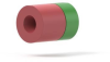 Mini Microfilter Capsule 2µm Red/Green - 2 Pack Filter Capsule Union-No Filter -- M-124NF