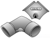 Rigid/EMT Conduit Elbow Joint -- CE-0100