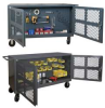 Two Sided Mesh Security Cart,Steel -- PJ-2460-LP-95