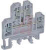 Terminal Block;Polyamide 6.6;6mm W;54H x 55.5mm;300V;9mm Strip Length;Grey -- 70077795