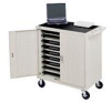 18 Laptop Storage Cart -- LAP18E-GM - Image