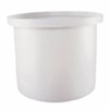 PE Low-Profile Cylindrical Tank with Hinged Cover, 5 gallon -- GO-06925-58