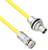 Halogen Free Cable Assembly TRB 3-Slot Plug to Insulated Bulk Head 3-Lug Cable Jack .245