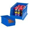 "10 3/4"" x 8 1/4"" x 7"" Blue - Plastic Stack & Hang Bin Boxes -- BINP1087B -- View Larger Image"