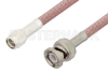SMA Male to BNC Male Cable 12 Inch Length Using RG142 Coax -- PE3696-12 -Image