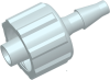 Locking Male Barb to Luer Male Straight Connector -- AP12MLLN18CL