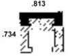 Duravar UHMW-PE Polymer C-Rail Assembly Profile -- 49427