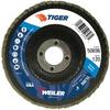 "4"" Tiger Disc Abrasive Flap Disc, Flat (TY27), Phenolic Backing, 120Z, 5/8"" Arbor Hole -- 50696 -- View Larger Image"