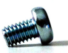 Slotted Cheese Head Screw With Lock Washer Steel 4.8 Zinc DIN84Z4, M4X12 -- M32609