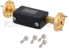 WR-15 Waveguide Attenuator Fixed 12 dB Operating from 50 GHz to 75 GHz, UG-385/U Round Cover Flange -- FMWAT1002-12 -Image