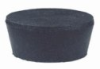 Cole-Parmer Solid Black Rubber Stoppers, Standard Size 6; 20/Pk -- GO-62990-18