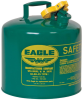Eagle Green Galvanized Steel 5 gal Safety Can - 13 1/2 in Height - 12 1/2 in Overall Diameter - 048441-00356 -- 048441-00356