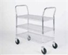 Gillis LPI Wire-Mesh Carts, 4-Shelf, 18