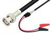 BNC Male to Mini Alligator Clip Cable 72 Inch Length Using 75 Ohm RG59 Coax -- PE33548-72 -Image