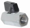 BALL VALVE, MINI HEX CHROME 1/4