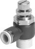One-way flow control valve -- GRLA-1/2-QB-3/8-U -Image