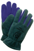 Premium Polar Fleece/Cowhide Winter Gloves > SIZE - L > COLOR - Green > UOM - Pair -- 1585