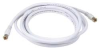 Coax Cable,RG-6,F-Type Conn,White,12 ft. -- 5RGP2