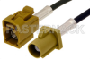 Curry FAKRA Plug to FAKRA Jack Cable 48 Inch Length Using RG174 Coax -- PE38752K-48 -Image