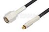 SMA Male to MC-Card Plug Cable 48 Inch Length Using RG174 Coax, RoHS -- PE36112LF-48 -Image