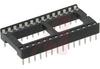 Socket, DIP;28Pins;Dual Leaf;Economy Ladder;0.6In.;Phosphor Bronze -- 70042913 - Image