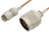 SMA Male to N Male Cable 48 Inch Length Using RG178 Coax, RoHS -- PE3321LF-48 -Image