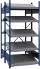 B-to-back open shelving, sloped shelves (standalone/series possible) -- SRE1T-EE751001B - Image