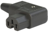 IEC Connector C15 for hot conditions 120°C, Rewireable, Angled