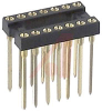 Socket, DIP;14Pins;3-Level;Open;Solderless Wrapost;0.3In.;Gold;SMD;3A -- 70206553