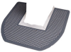 Impact® Disposable Toilet Floor Mat - Gray/Orchard Zing -- 1550