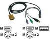 Tripp Lite KVM Switch USB/PS2 Combo Cable P778-015 - keyboard / video / mouse (KVM) cable - 15 ft -- P778-015 %PUB