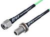 N Female Bulkhead to TNC Male Low Loss Cable 24 Inch Length Using PE-P160LL Coax -- PE3C5270-24 -Image
