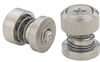 Captive Panel Screw-Low Profile Knob, Spring-loaded - Unified -- PF50-832-1-BN-2 -Image