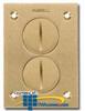 Hubbell Brass Duplex Screw Round Floor Box Cover -- S3625 - Image