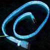 Flexiglow PC SATA Cable 50cm Illuminated Blue -- 14923